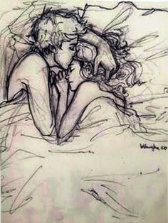 Enthralling, inspiring and awesome images tagged with boy + girl + sex. Cute Couple Drawings, Love Drawings, Drawing Sketches, Art Drawings, Sketches Of Love Couples, Anime Love Couple, Couple Art, Romantic Drawing, Hacker Wallpaper