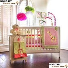 Safari Zoo Jungle Baby Crib Set 10 Pieces A Quilt Per Two