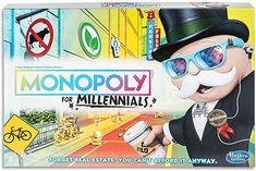 Hasbro's Monopoly for Millennials cashes in on millennial angst - Vox Games For Kids, Games To Play, Family Games, Face Soap, Monopoly Game, Game Guide, Cheaters, Tk Maxx, Deadpool Videos