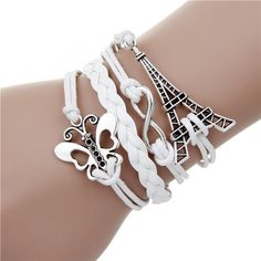 Jewelry & Watches Bright Butterfly Charm Bracelet Black Silver Gray Fashion W/toggle Lock Lady Girls Gift Soft And Light