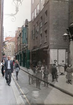 After seeing the work of photographer C.A.Mathew published on Spitalfields Life, Adam Tuck was inspired to revisit the locations of the pictures taken a century ago. Subtly blending his own photographs of Spitalfields 2012 with C.A.Mathew's photographs of Spitalfields 1912, Adam has initiated an unlikely collaboration with a photographer of a century ago and created a new series of images of compelling resonance.