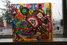 Crow Bar Transparent paint on plexiglass  By Jeffrey Allan, 2014