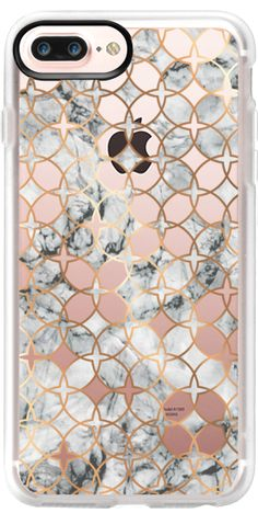 Casetify iPhone 7 Plus Case and iPhone 7 Cases. Other Pattern iPhone Covers - Rose Gold And Marble Geometric by Marta Olga Klara | Casetify