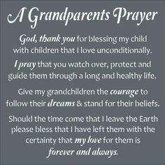 A Grandparent's Prayer