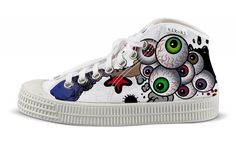 tenisky curious cyril tikoki Converse Chuck Taylor High, Converse High, High Top Sneakers, Chuck Taylors High Top, Designer Shoes, High Tops, Cool Designs, Fashion, Moda