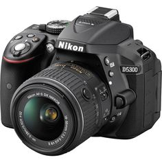 Nikon D5300, DSLR Camera (with Video), CMOS, 24.2 MP, Full HD 1920 X 1080p/60fps, with 18 - 55 mm Zoom - Nikkor VR II Lens