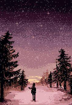 "pixeloutput: "" winter by pixelMewr | Tumblr """