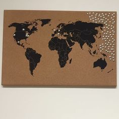 World map cork board aeropostale home office pinterest world map cork board gumiabroncs Image collections