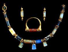 Lady Layard's jewelry. From Nimrud,Mesopotamia Assyrian culture