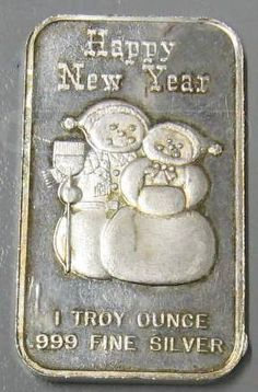 One Troy Once .999 Fine Silver Bar, I have 4oz's, just minus the stupid snowmen!