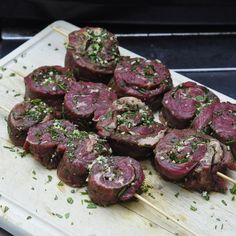 Herb and Garlic Rolled Steak Medallions - infused with delicious flavour! - Herb and Garlic Rolled Steak Medallions – infused with delicious flavour! – Herb and Garlic Gr - Pork Rib Recipes, Grilled Steak Recipes, Barbecue Recipes, Grilled Meat, Grilling Recipes, Meat Recipes, Cooking Recipes, Rock Recipes, Grilled Steaks