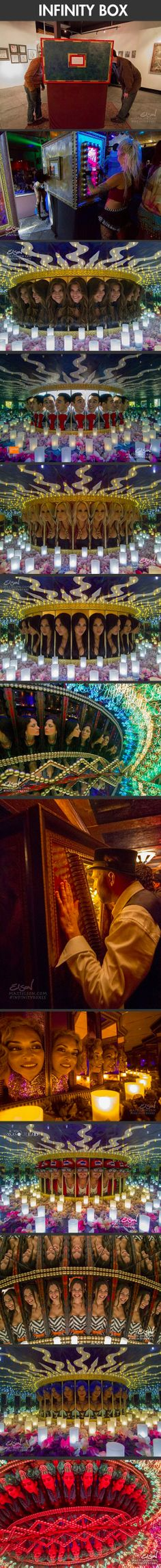 Cool infinity box relies on mirrors to produce a nifty optical illusion.
