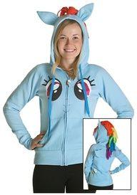http://progresslightingparts.com  My Little Pony Rainbow Face Hoodie