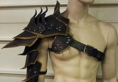 Leather Barbarian Shoulder Armor