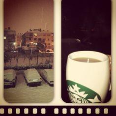 Snow and starbucks mug