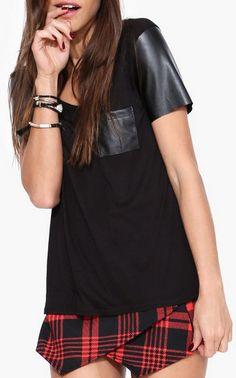 Leather Tee Shirt