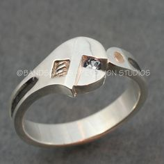 14k+Gold+WRENCH+WEDDING+BAND++with+Blue+Sapphire.++A+by+BandScapes,+$850.00