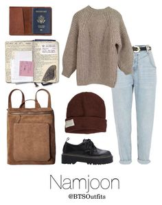 """""""Traveling the World with Namjoon"""" by btsoutfits ❤ liked on Polyvore featuring TOMS, River Island, Étoile Isabel Marant and Krochet Kids"""