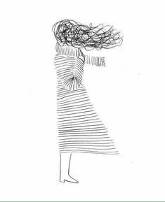 Drawing Ideas - Deep Meanings Uploaded To Simple Drawings Illus .- Drawing Ideas – Deep Meanings Uploaded To Simple Drawings Illustration: Christopher DeLore … Art And Illustration, Fashion Illustration Hair, Inspiration Art, Art Inspo, Oeuvre D'art, Painting & Drawing, Deep Drawing, Black Pen Drawing, Scarf Drawing