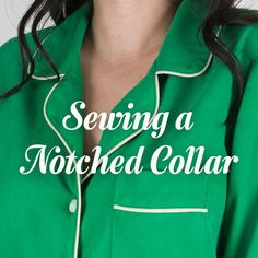 sewing a notched collar for Carolyn Pajamas tutorial