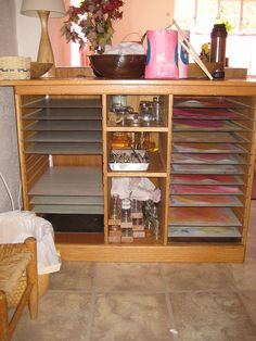 Waldorf ~ Classroom ~ Drying Rack.  Could we do something similar, but smaller, at home?