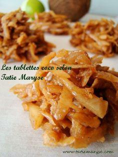 Les tablettes coco c'est une sucrerie au coco préparée à partir de la noix de coco sèche. Découvrez la recette créole de Tatie Maryse...