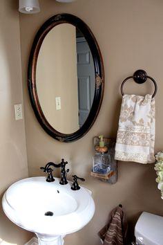 Bathroom DIY soap dispenser I think I would use a Mason Jar
