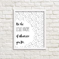 Printable Wall Art, Leslie Knope Print, Gallery Wall, Parks and Recreation…