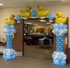 baby shower balloon arch kit with duck theme - Love this!! So cute