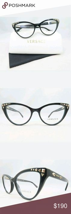 9b707a2ab Versace Eyeglasses Authentic and new Versace Eyeglasses Black frame  52-16-140 Includes original
