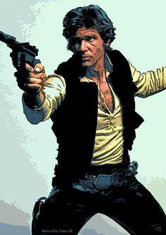 Han Solo by Mark Harrison Boys Who, Bad Boys, Han Solo, A Good Man, Universe, Star Wars, Guys, Comics, Stars