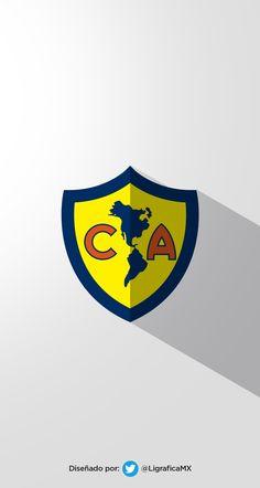 Club America of Mexico wallpaper. Sport Football, Football Players, Soccer, Mexico Wallpaper, Football Wallpaper, Porsche Logo, Messi, Fifa, Team Logo