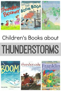 My son has been interested in thunderstorms, so we've read a lot of related books. Here is a list of our favorite children's books about thunderstorms. Weather Activities For Kids, Preschool Weather, Book Activities, Teaching Weather, Reading Resources, Kindergarten Books, Preschool Books, Science Books, Library Books