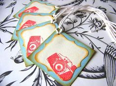 Shabby Chic Camera Gift Tags