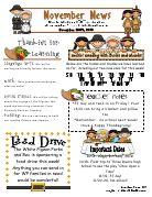 cabcae19be429d953e9fd0f326b5b515 November Teacher Newsletter Template on owl theme, for first grade, free preschool,