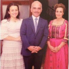 King Hussein with his first wife, Princess Dina & their only child, Princess Alia