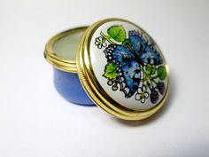 Vintage Halcyon Days Enamel Pill Box  1980s  by heartseasevintage, $120.00
