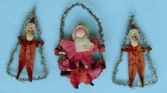 Antique Christmas Ornaments Tinsel and Lametta Christmas Ornaments