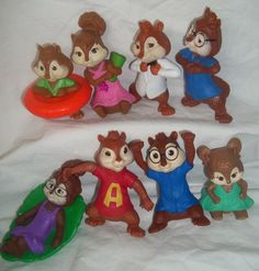 McDonald Toy Alvin Chipmunks Jeanette Theodore Simon Eleonor Brittany Lot Figure