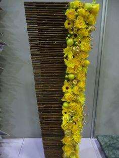 Yellow event arrangement by Marie Françoise Déprez