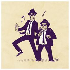 Sketch 05 - Blues Brothers by ThiagoBuzzy.deviantart.com on @deviantART