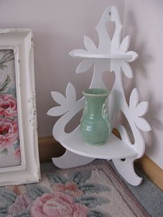 Vintage Victorian Shabby Cottage White Wood by PerfectPieLady