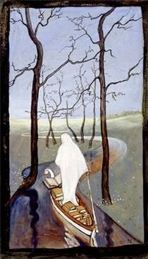 Six of Swords Tarot Card. I dunno but it reminds me of Remedios Varo so i like it. Henri Matisse, Henri Rousseau, National Gallery, Art Carte, Tarot Card Meanings, Chef D Oeuvre, Art Database, Tarot Decks, Paul Gauguin