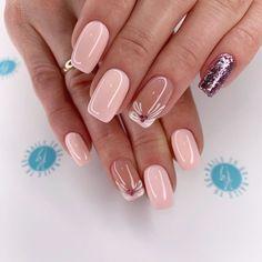- Acrylic short square nails design for summer nails, Short square nails color ideas, Natural gel short square nails design, Pretty and cute acrylic nails design Square Nail Designs, Nail Art Designs, Nails Design, Design Art, Elegant Nails, Stylish Nails, Fancy Nails, Pink Nails, Nail Manicure