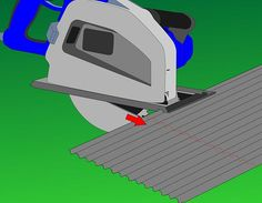 cutting corrugated metal with jigsaw - Google Search