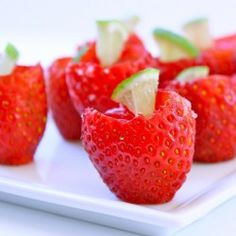 Strawberry Margarita Jello-O shots. These may have to make an appearance whenever we have a house warming party.