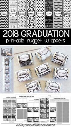 2018 graduation printable, 2018 graduation gift idea, gift ideas for her, gift for him, candy wrapper, nugget wrapper #mycomputerismycanvas Preschool Graduation, Graduation Diy, Graduation Celebration, Teacher Treats, Teacher Gifts, Senior Gifts, Diy Party, Party Ideas, Candy Wrappers