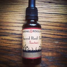Sacred Basil (Tulsi) Tincture 1 oz by HerbalRevolutionFarm on Etsy Thing 1, 1 Oz, Whiskey Bottle, Basil, Drugs, Herbalism, The Cure, Revolution, Yoga