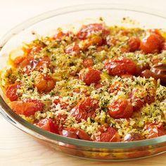 Tomates cerise rôties en crumble – Recette 7