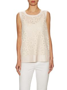 Mesh Lace Crewneck  Top by Lafayette 148 New York at Gilt
